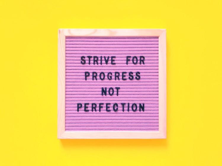 2020 resolution: progress, not perfection.